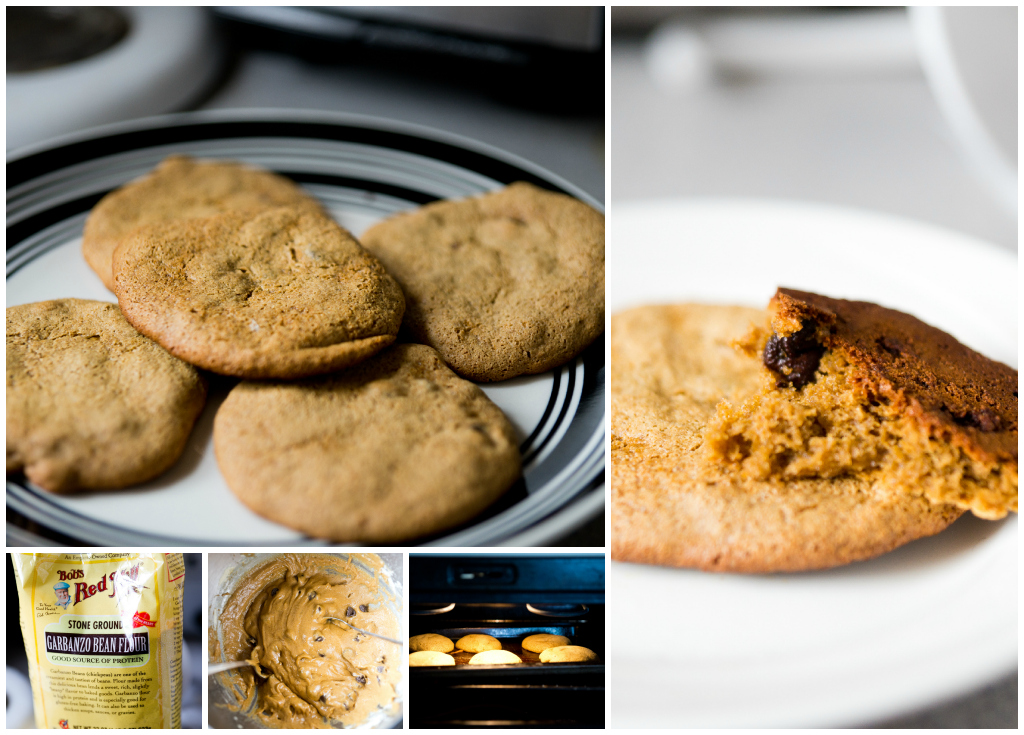 Chick pea chocolate chip cookies.